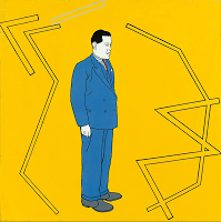 Patrick Caulfield, Portrait of Juan Gris 1963 Pallant House Gallery, Chichester (Wilson Gift through The Art Fund, 2006)  © The estate of Patrick Caulfield.  All Rights Reserved, DACS 2013