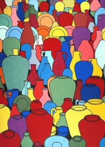 Patrick Caulfield, Pottery 1969, Oil on canvas, support: 2134 x 1524 mm Presented by Mrs H.K. Morton through the Contemporary Art Society 1969© The estate of Patrick Caulfield