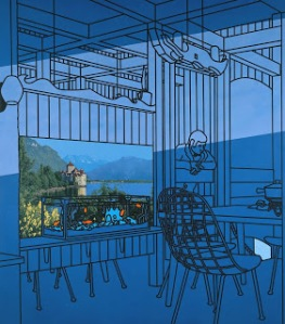 Patrick Caulfield, After Lunch 1975 Acrylic on canvas, support: 2489 x 2134 mm Purchased 1976 The estate of Patrick Caulfield