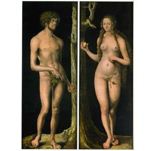 Lucas Crancah l'Ancien, Adam et Eve, collection du Musée des Beaux-Arts et d'Archéologie, Besançon