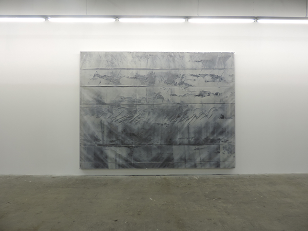Natalie Dray, Untitled, 2013. Aluminium, polythene, acrylic