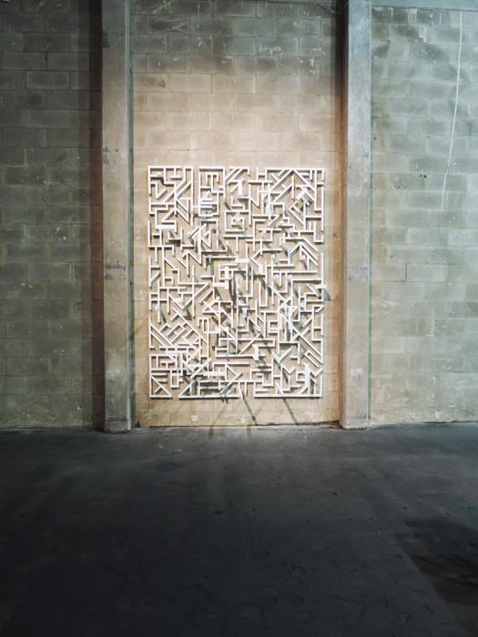 Ben Sansbury, Interdimensional relationship, 2013. Pigment, wood.