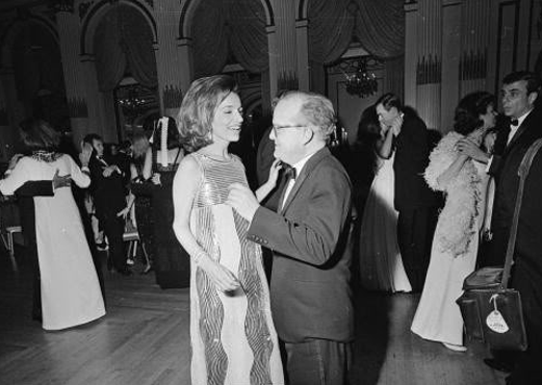 Lee Radziwill with Truman Capote at his ball in 1966