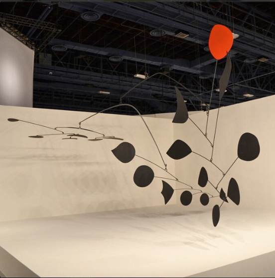 Alexander Calder's Rouge Triomphant, ca. 1959–63, at Helly Nahmad Gallery