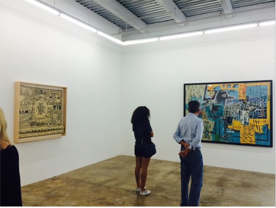 Keith Haring and Jean-Michel Basquiat at the Rubell Family Collection